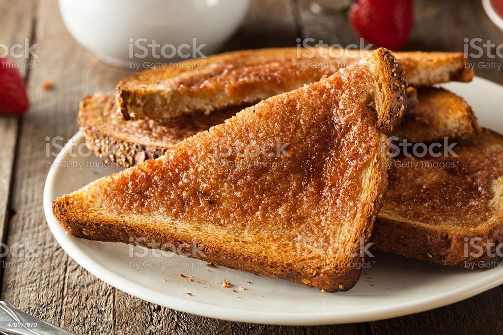Homemade Sugar and Cinnamon Toast stock photo