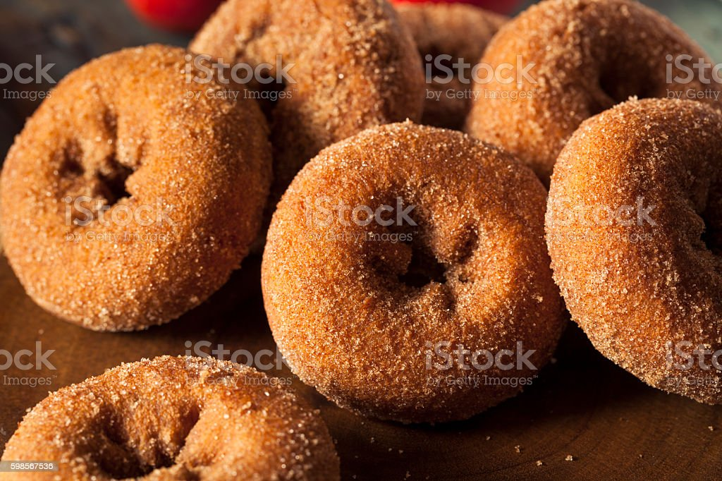 Homemade Sugared Apple Cider Donuts stock photo