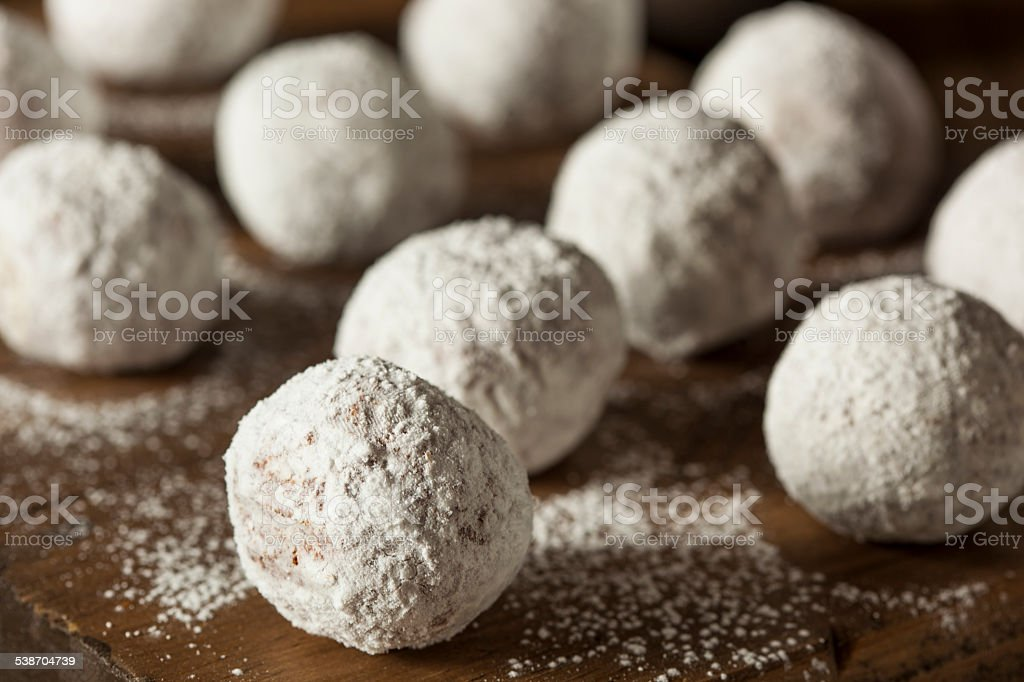 Homemade Sugary Donut Holes stock photo