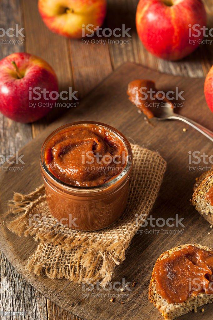Homemade Sweet Apple Butter stock photo