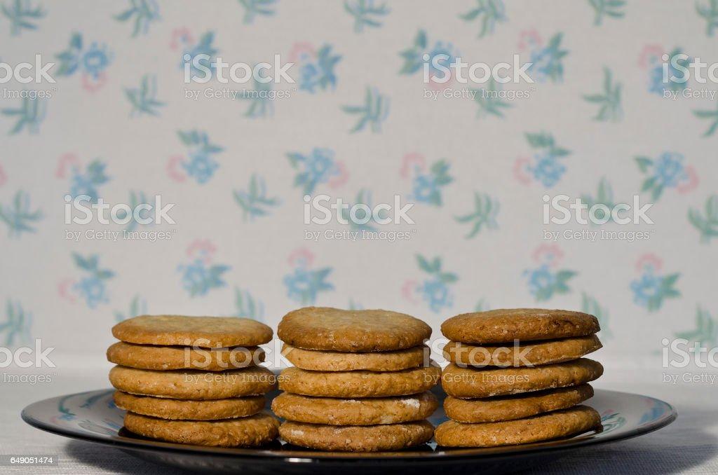 Homemade sweet cookies stock photo