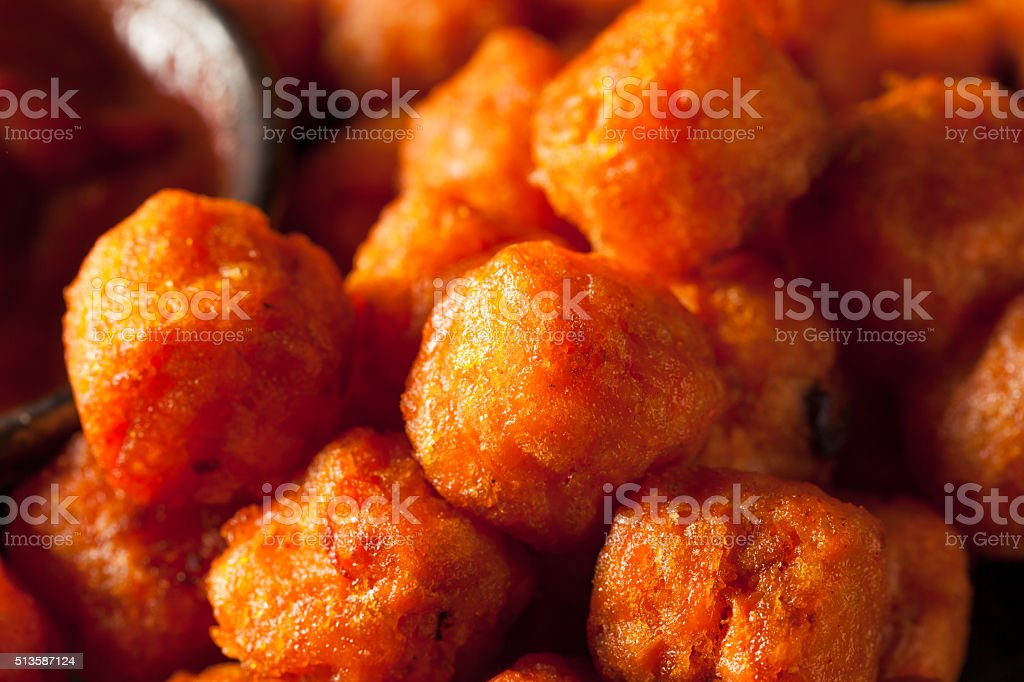 Homemade Sweet Potato Tater Tots stock photo