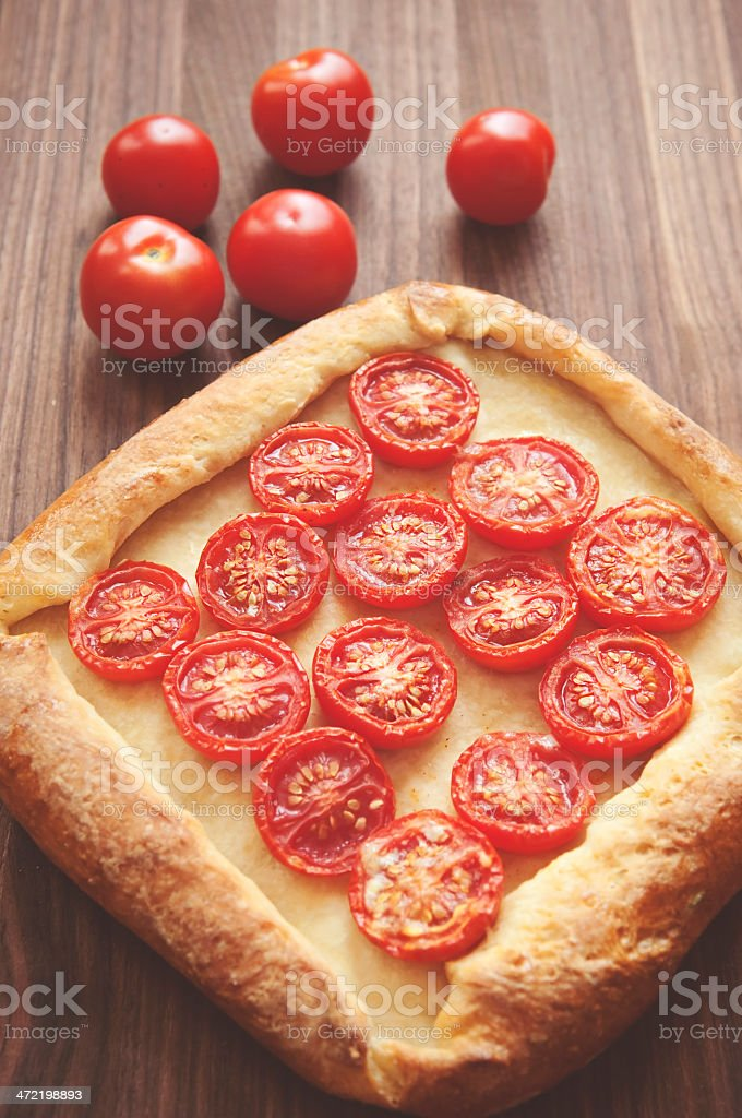 Homemade Tomato Pizza royalty-free stock photo