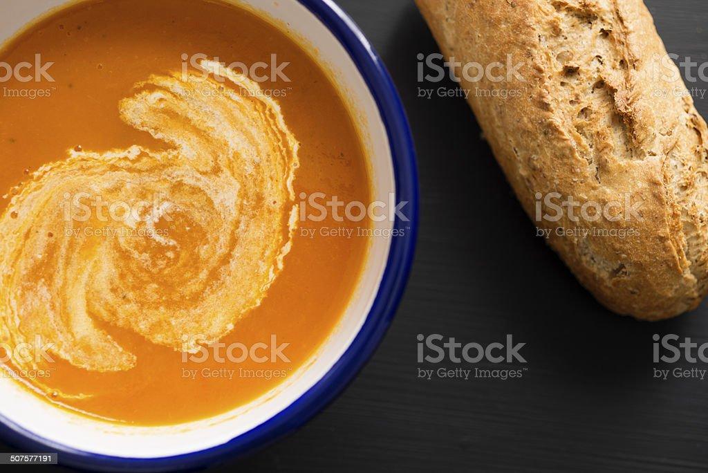 Homemade Tomato Soup stock photo