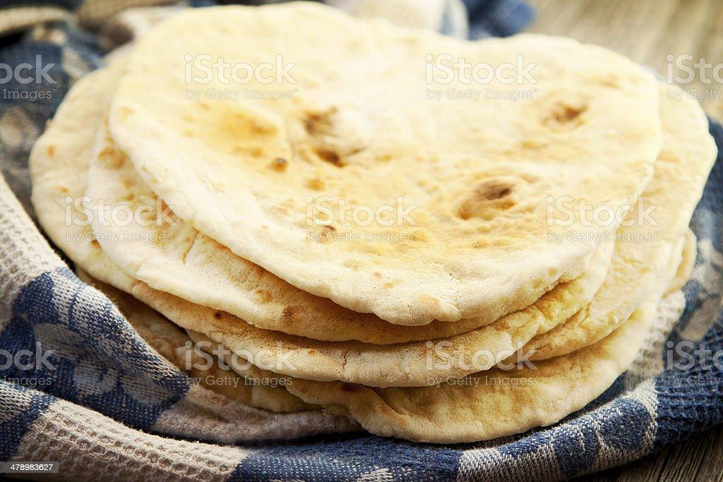 Homemade Tortillas stock photo