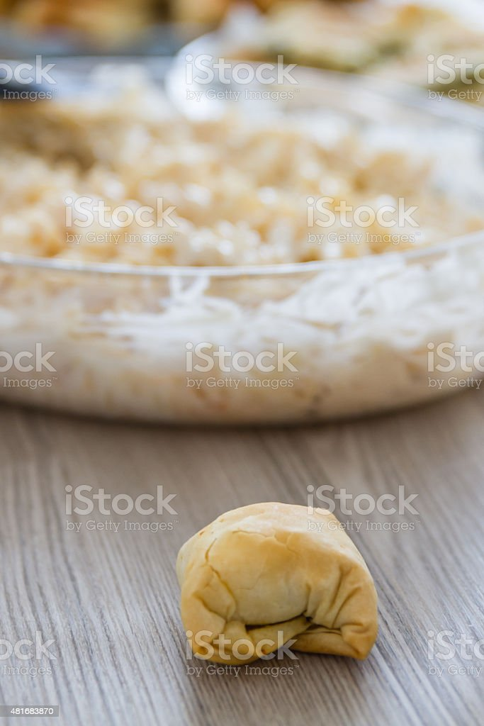 Homemade traditional Turkish pastry stock photo