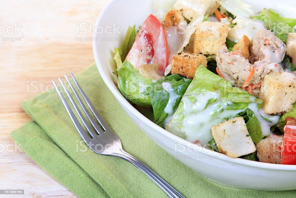 Homemade tuna salad royalty-free stock photo