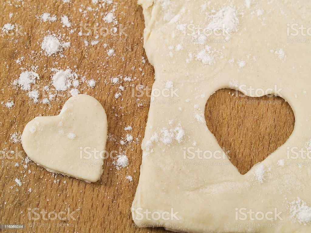 Homemade Valentine's Day Cookies royalty-free stock photo
