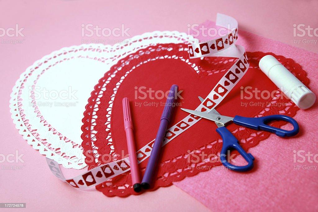 Homemade Valentines royalty-free stock photo
