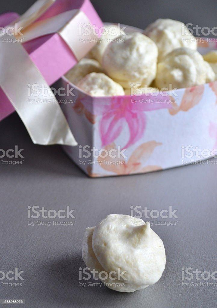 homemade vanilla marshmallows stock photo