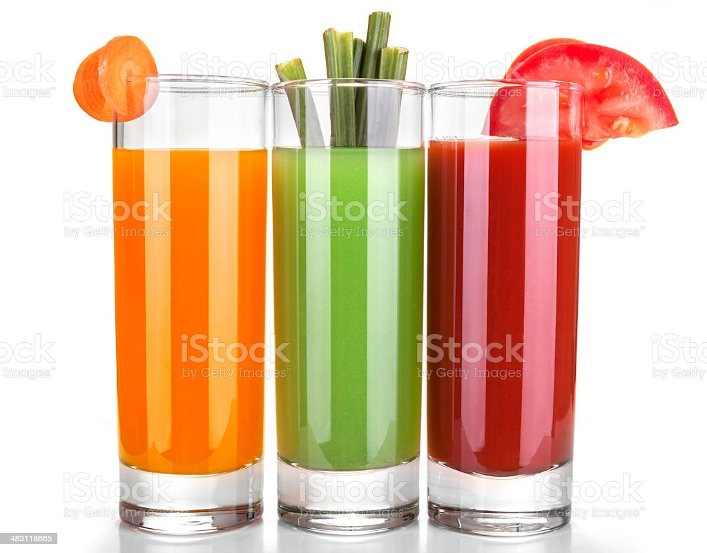 homemade vegetable juices royalty-free stock photo