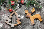 Homemade wooden Christmas ornaments