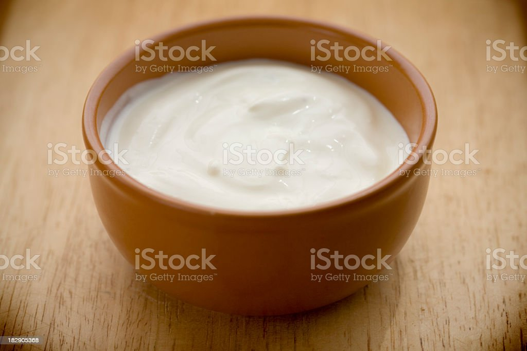 homemade yogurt royalty-free stock photo