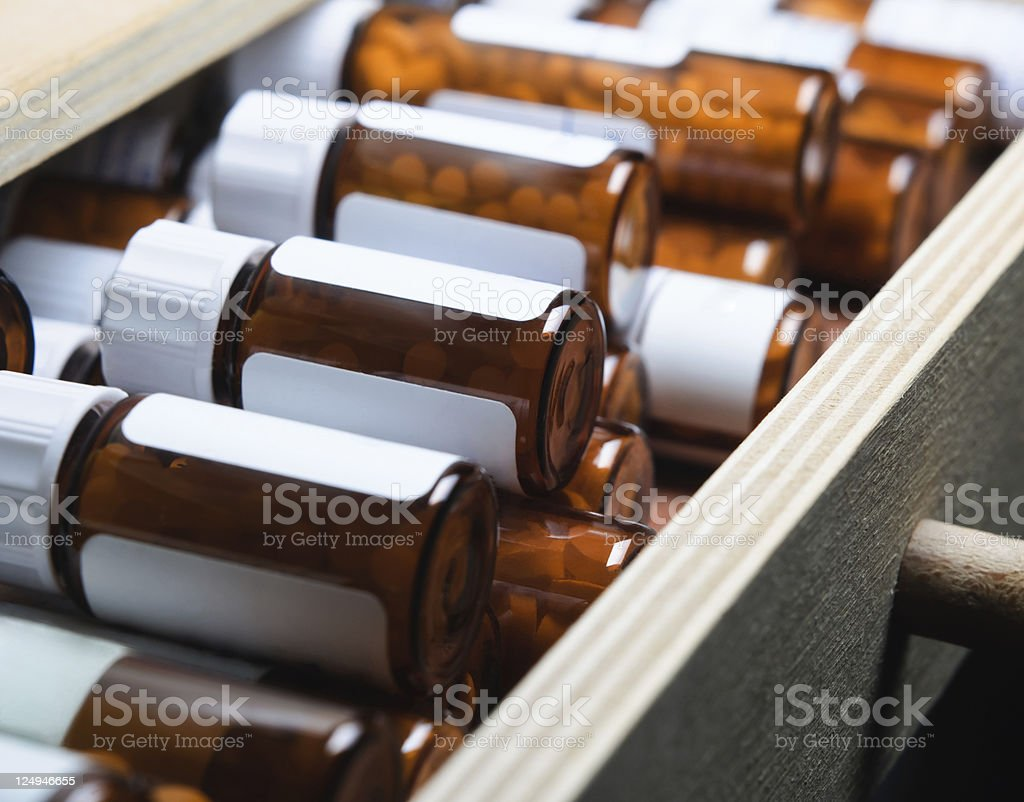Homeopathic Remedy Bottles stock photo