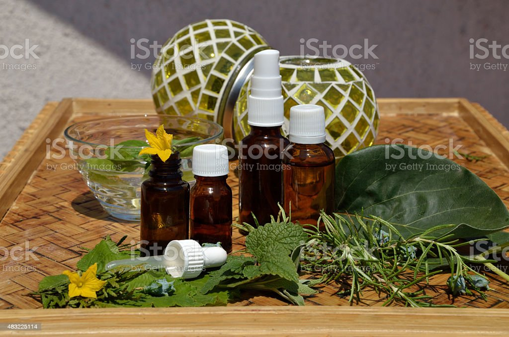 Homeopathy remedies bottles stock photo