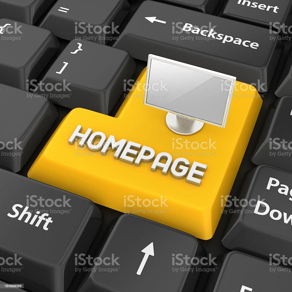 homepage enter key royalty-free stock photo