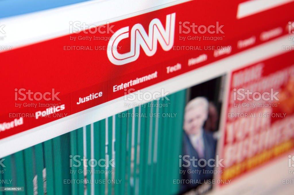 CNN Homepage stock photo