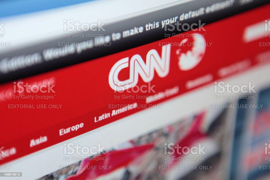 CNN Homepage royalty-free stock photo