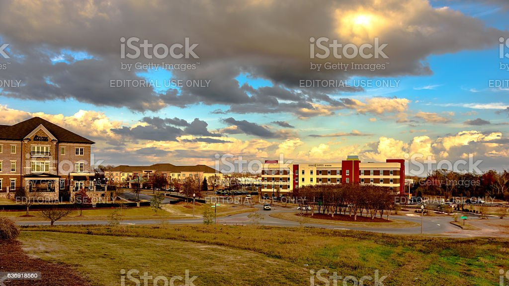 Homeplace Shopping Center stock photo