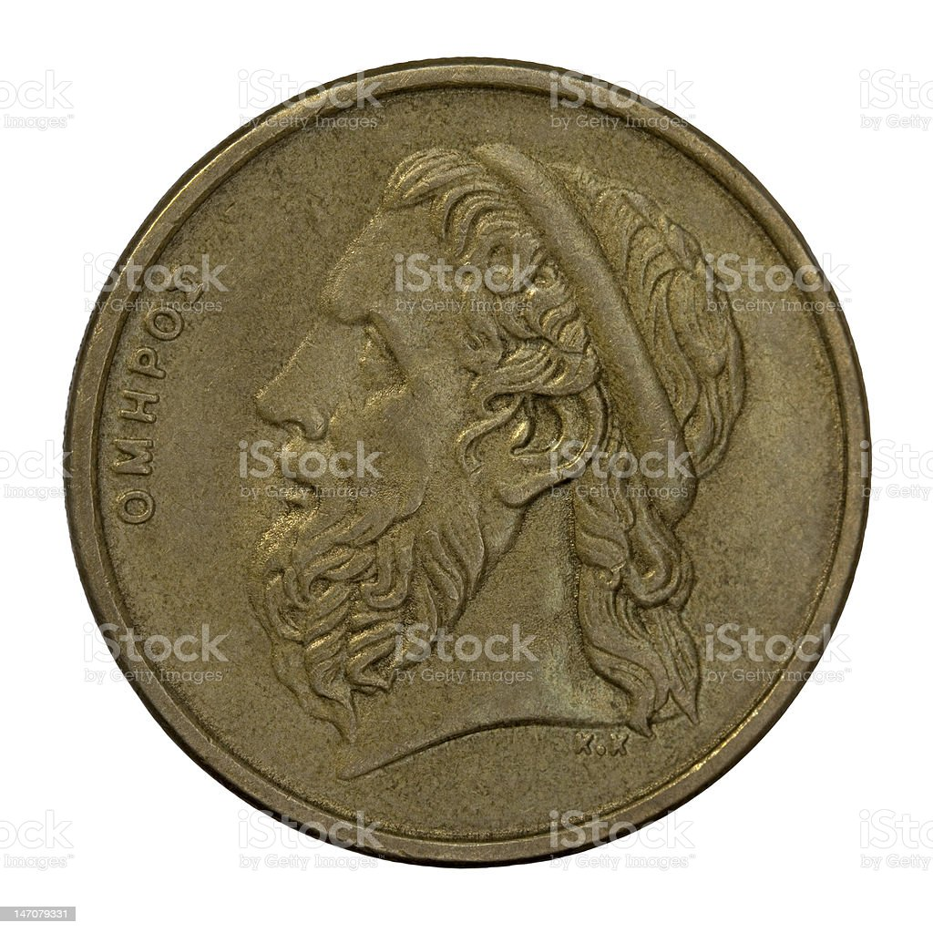 Homer, ancient Greek poet royalty-free stock photo