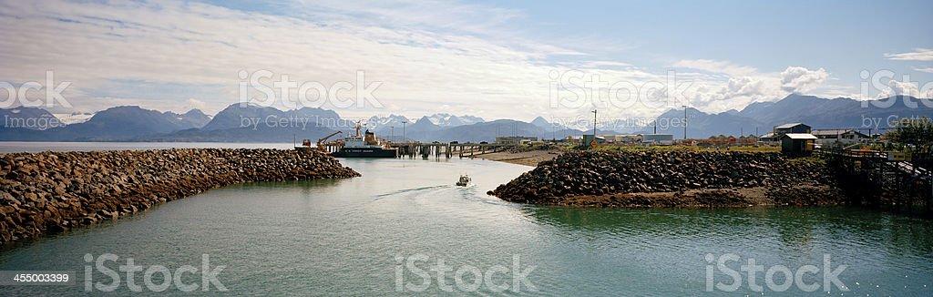 Homer Boat Harbor Entrance, Alaska stock photo