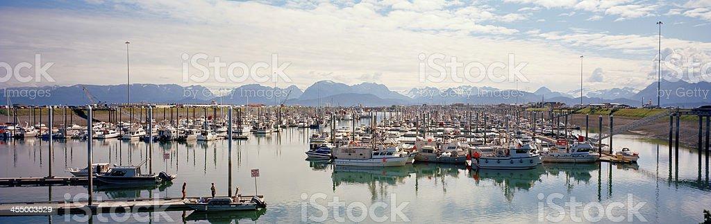 Homer Boat Harbor, Kenai Peninsula, Alaska stock photo
