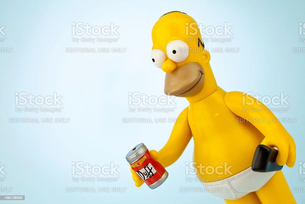 Homer Simpson royalty-free stock photo