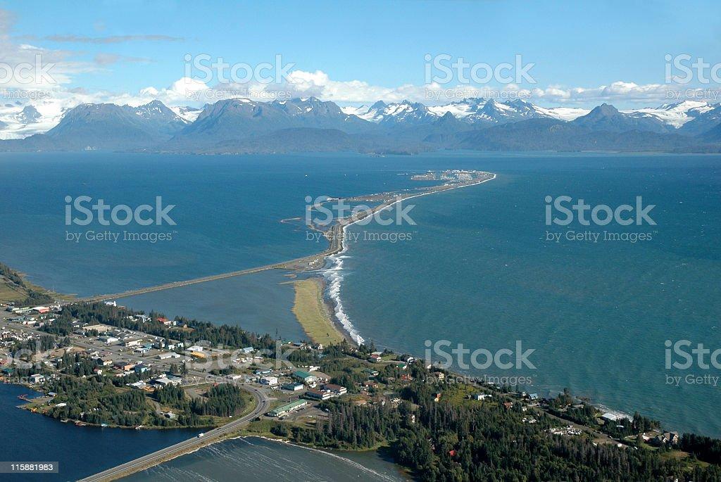Homer Spit,Kachemak Bay,Alaska,USA stock photo
