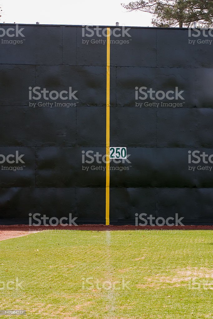 Homerun fence royalty-free stock photo