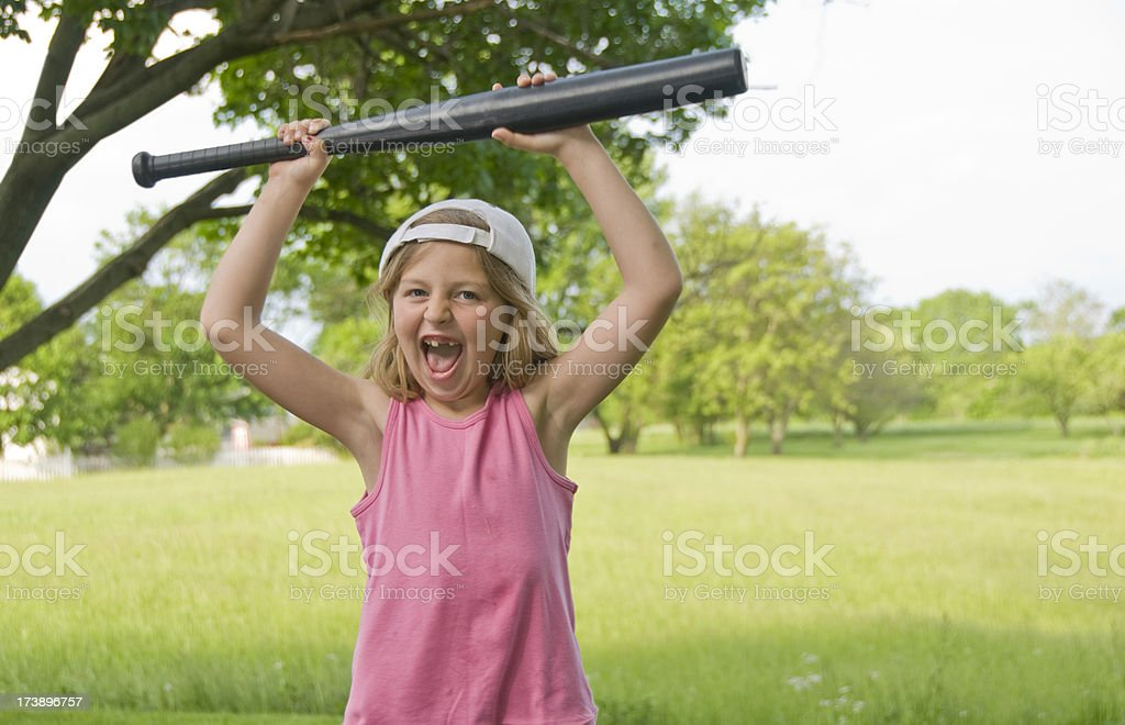 Homerun girl royalty-free stock photo