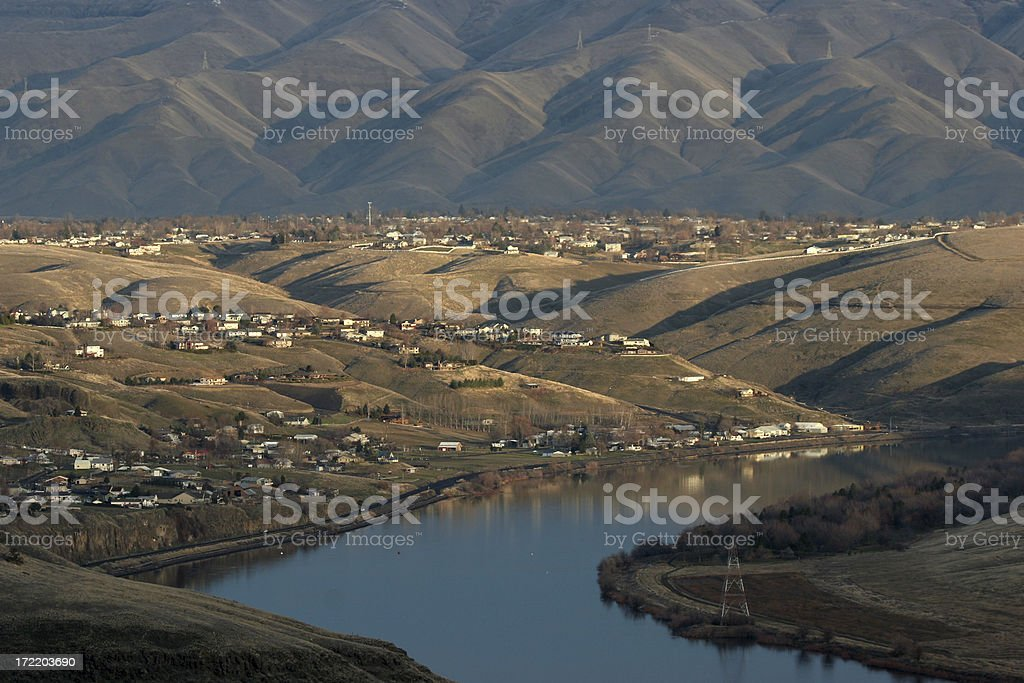 homes along snake river royalty-free stock photo