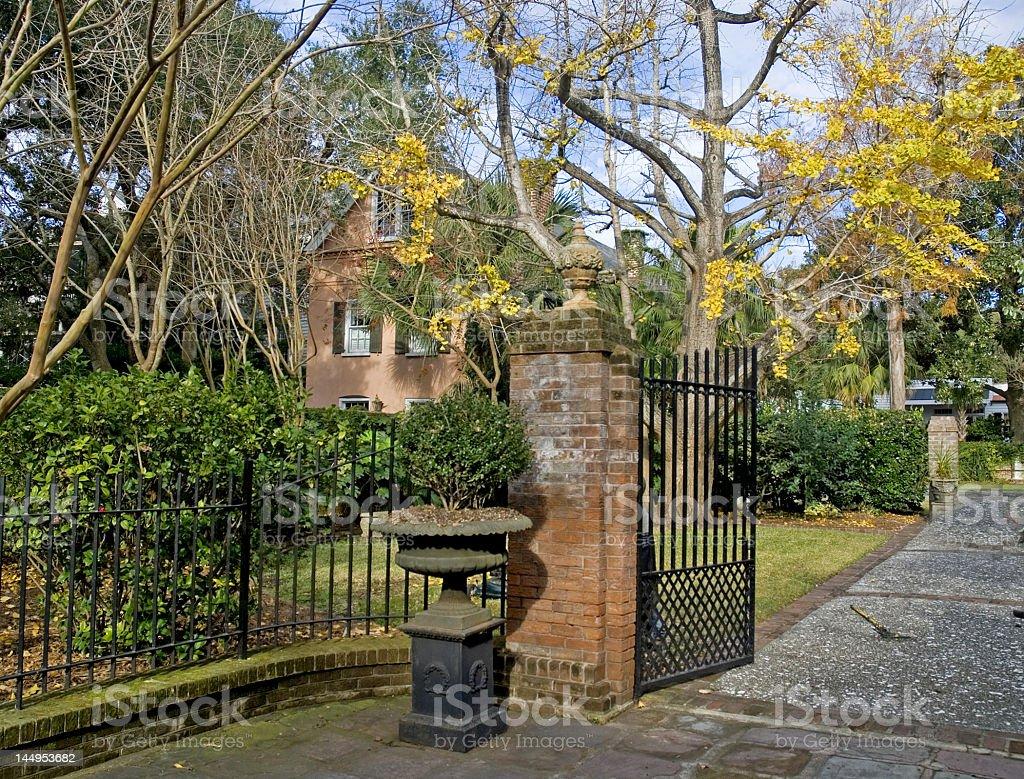 Homes and Gardens of Charleston royalty-free stock photo