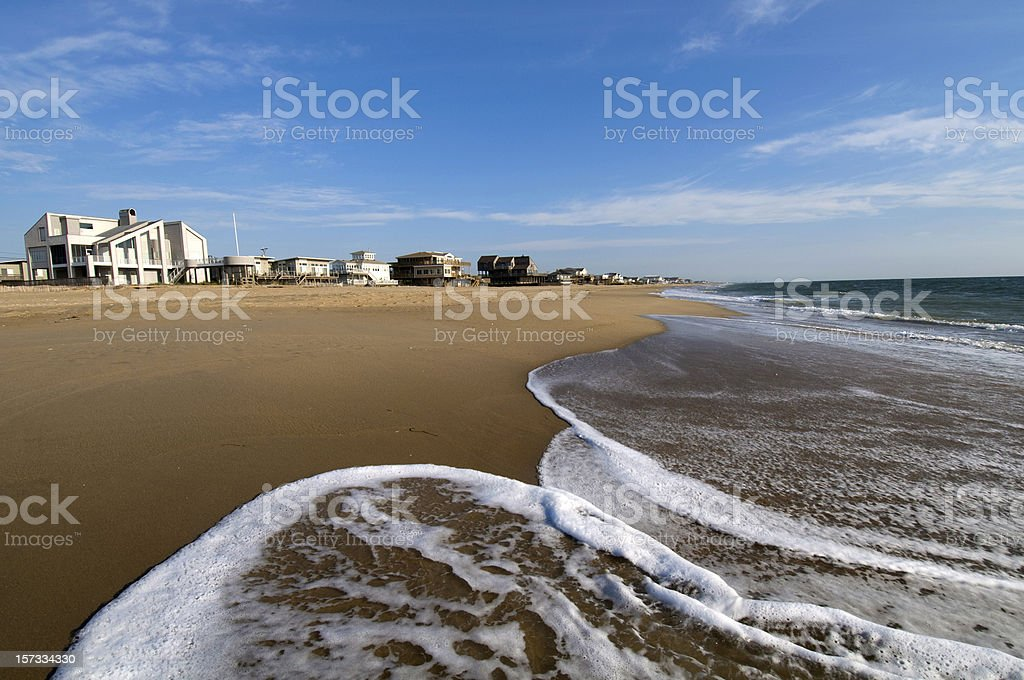 Homes by the sea side of Virginia Beach, USA stock photo