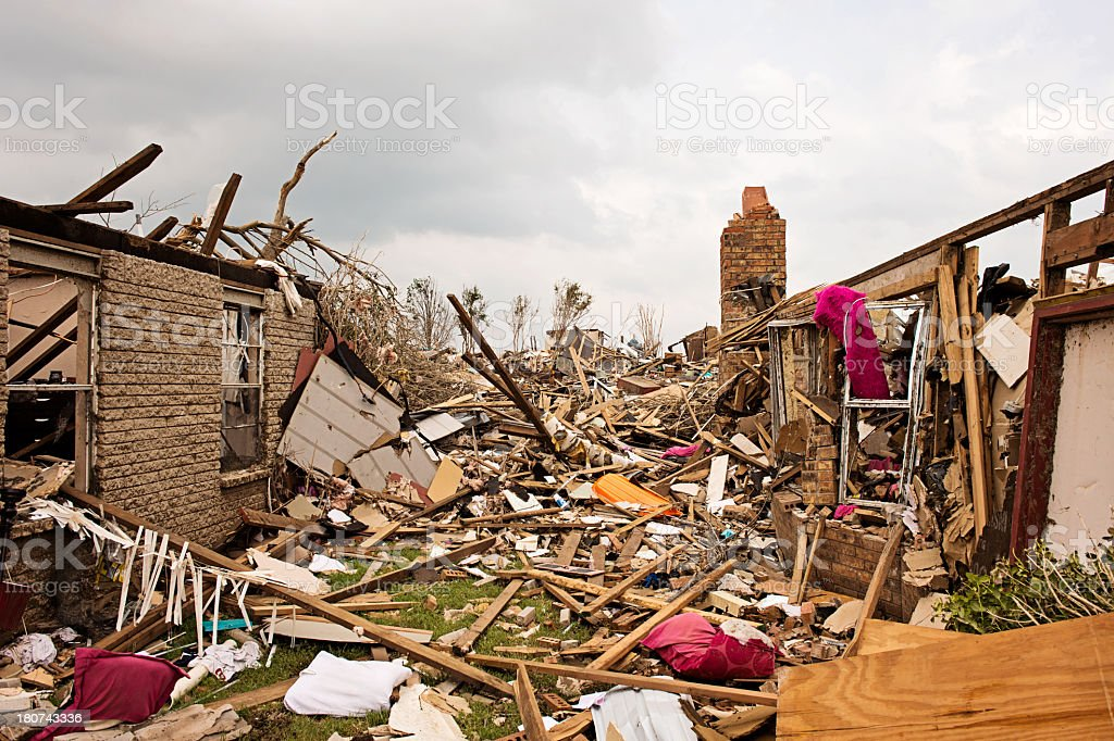 Homes Destroyed royalty-free stock photo