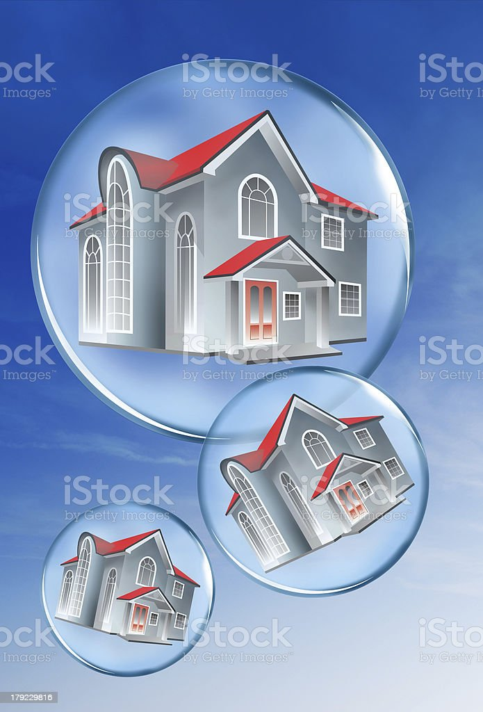 Homes in a bubble. royalty-free stock photo