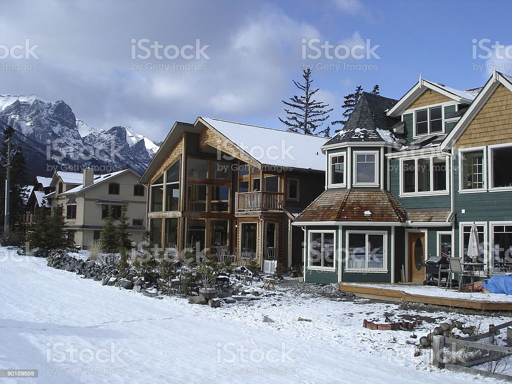 Homes in alpine village royalty-free stock photo