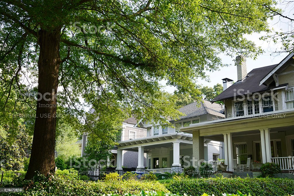 Homes in Atlanta stock photo