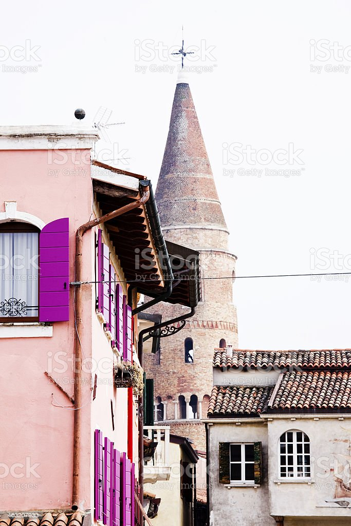 homes in Caorle, Italy stock photo