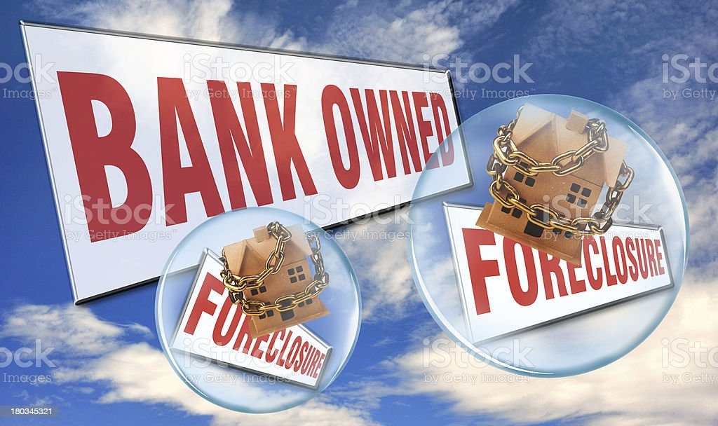 Homes in Foreclosure. stock photo