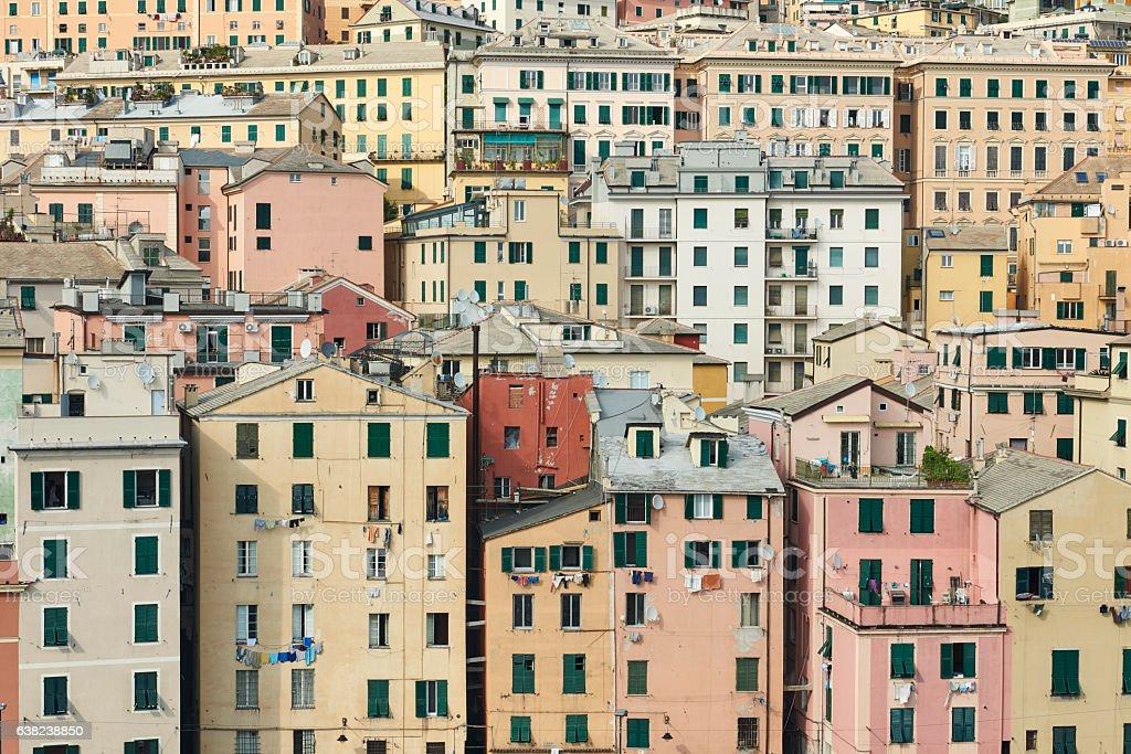 Homes in Genova stock photo