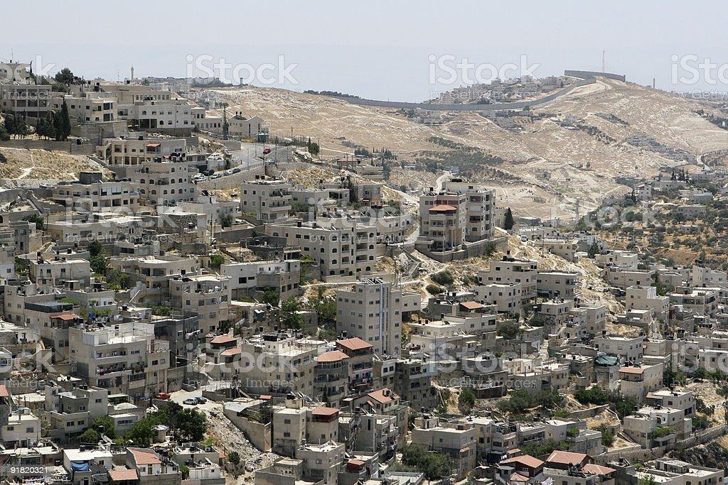 Homes in Jerusalem, Israel stock photo
