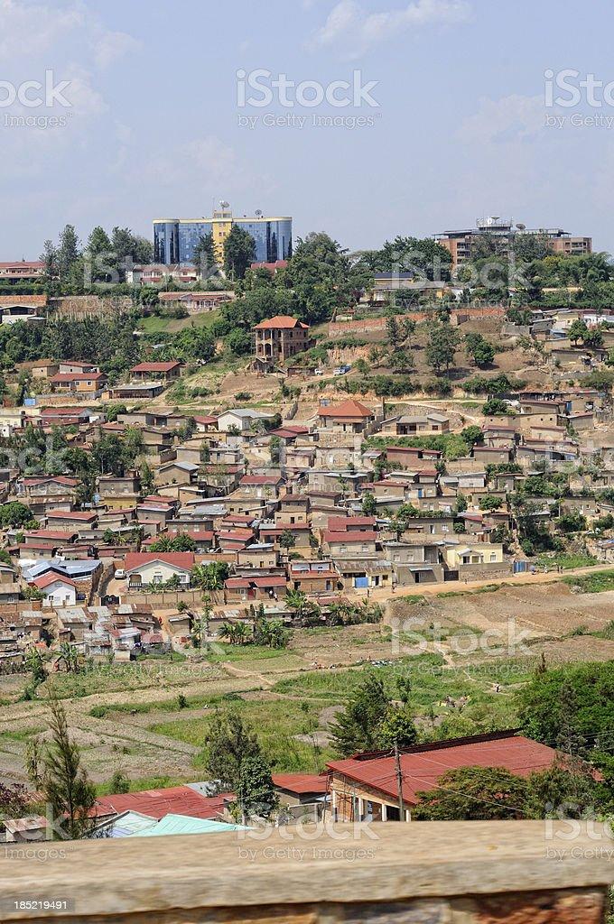 Homes in Kigali, Rwanda stock photo