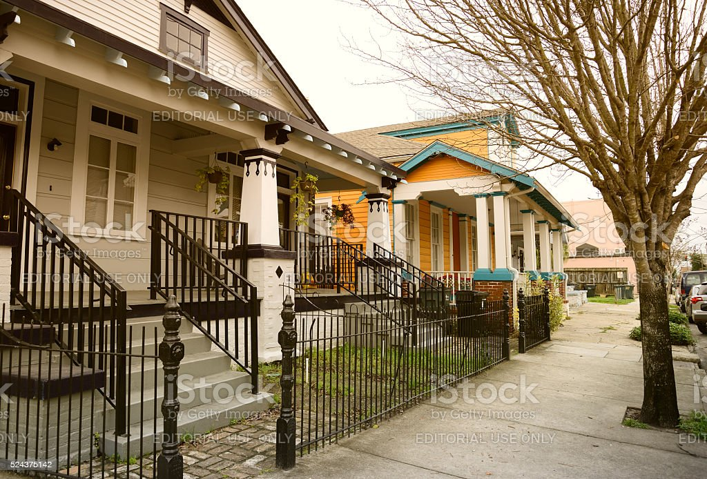 Homes in New Orleans stock photo