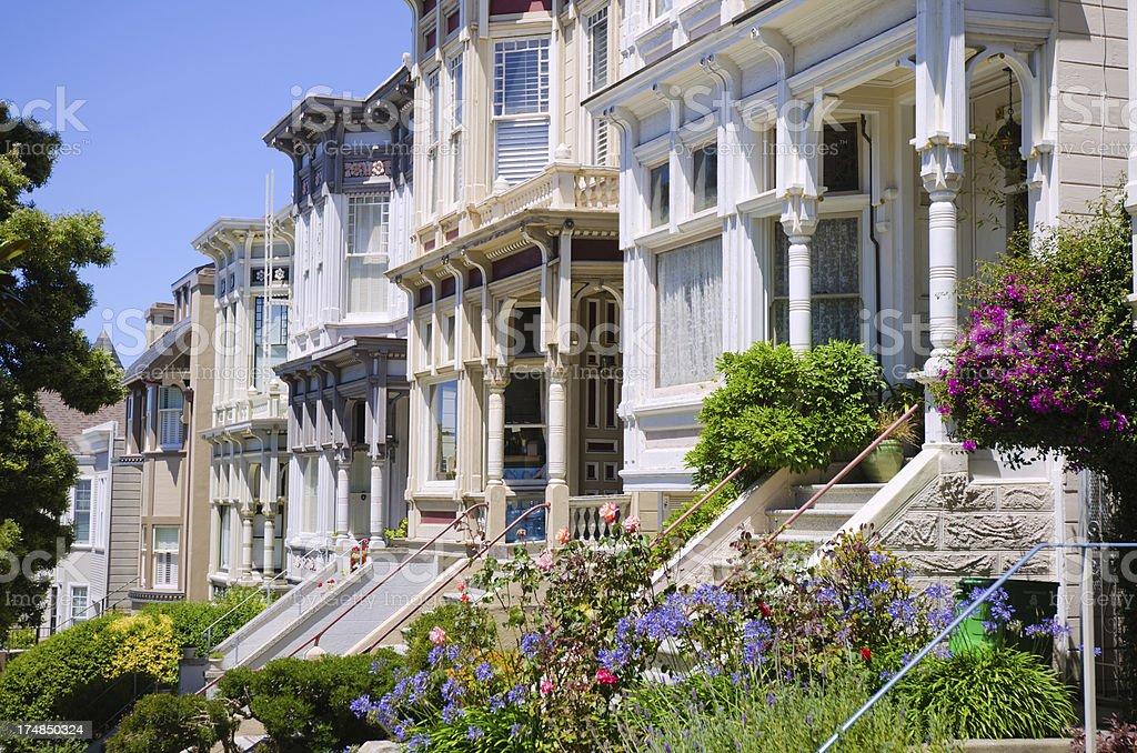 Homes in San Francisco, CA royalty-free stock photo