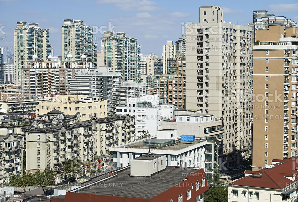 Homes in Shanghai royalty-free stock photo