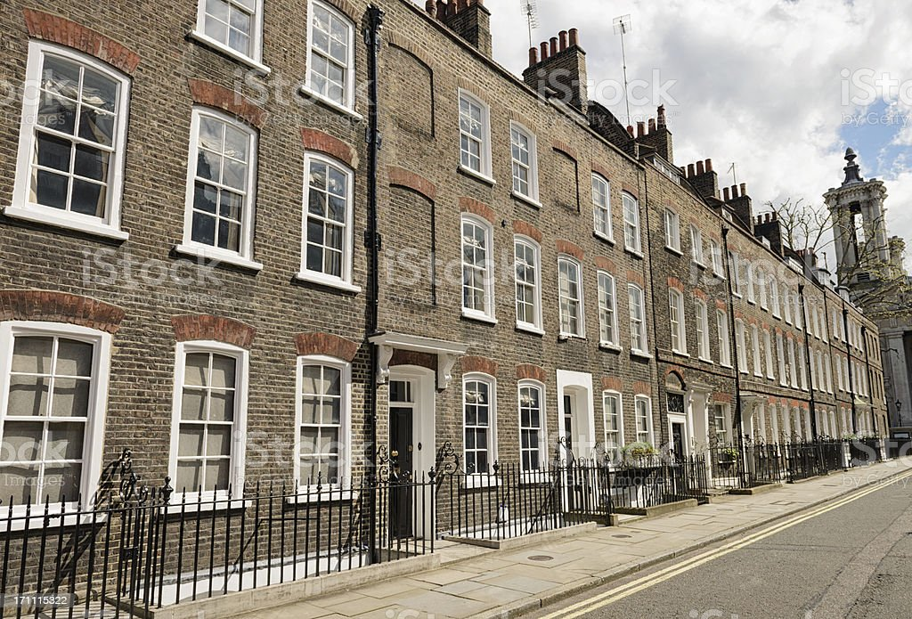 Homes in Westminster, London stock photo