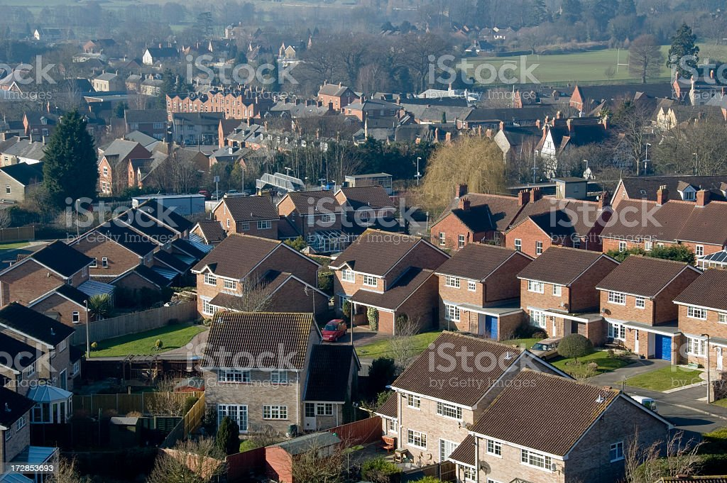 Homes On A Housing Estate In The UK royalty-free stock photo