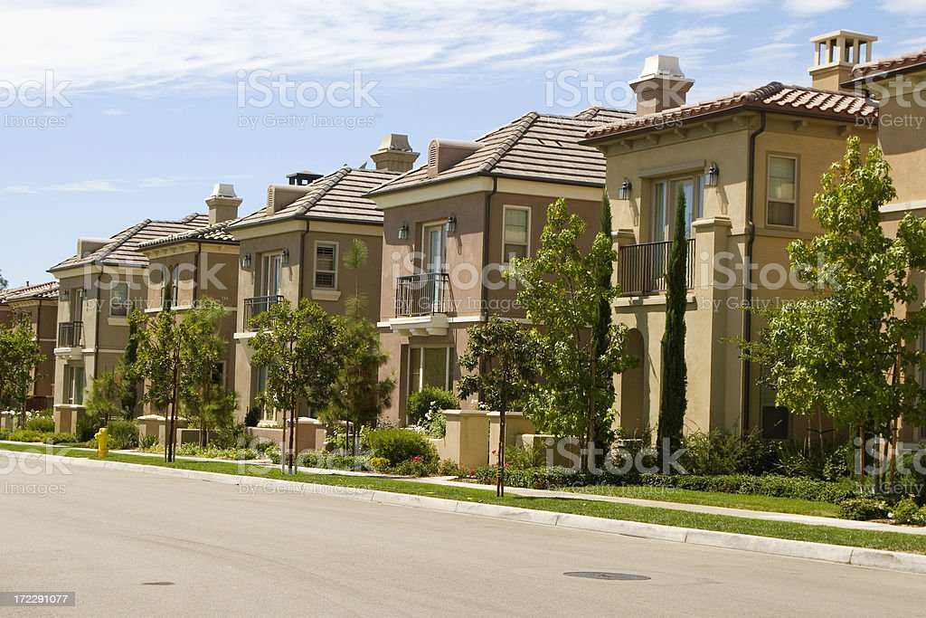 homes - Orange County stock photo