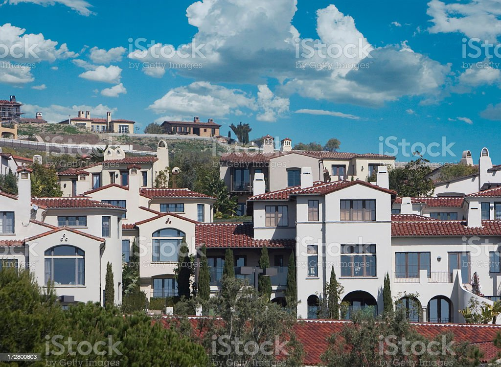 homes -Orange County stock photo