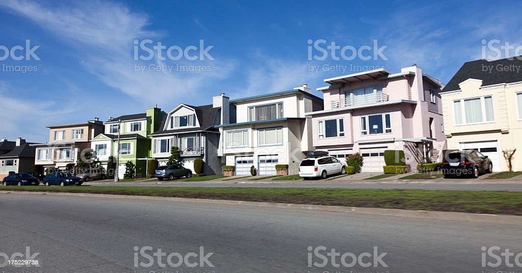 SF Homes stock photo